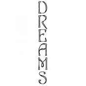 Stampers Anonymous Wood Mounted Stamp - Dreams G3-818