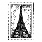 Stampers Anonymous Wood Mounted Stamp - Eiffel Post J2-732