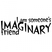 Stampers Anonymous Wood Mounted Stamp: Imaginary Friend J3-1010