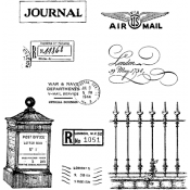 Stampers Anonymous Classic Cling Mounted Stamps - SCF013