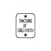 Wendy Vecchi Wood Mounted Stamp - Creativity Label D1-1708