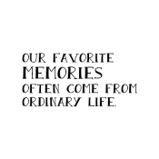 Wendy Vecchi Wood Mounted Stamp - Favorite Memories G2-2488