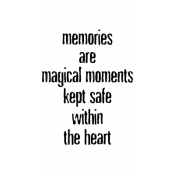 Wendy Vecchi Wood Mounted Stamp - Magical Memories J2-2498