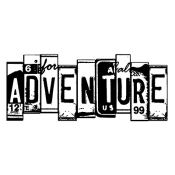 Wendy Vecchi Wood Mounted Stamp - It's An Adventure J5-2389
