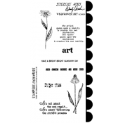 Wendy Vecchi Cling Mount Stamps - Wildflower Art LCS089