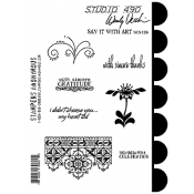 Wendy Vecchi Cling Mount Stamps - Say It With Art SCS126