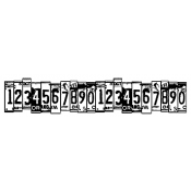 Wendy Vecchi Wood Mounted Stamp - Row of Numbers U7-2404