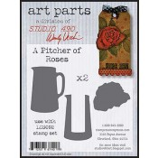 Studio 490 Art Parts - A Pitcher of Roses WVAP017