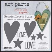Studio 490 Art Parts - Hearts Love & Stars WVAP024