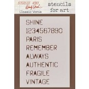 Wendy Vecchi Stencils for Art - Classic Words WVSFA001