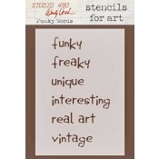 Wendy Vecchi Stencils for Art - Funky Words WVSFA002