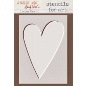 Wendy Vecchi Stencils for Art - Large Heart WVSFA003