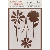 Wendy Vecchi Stencils for Art - 3 Fresh Flowers WVSFA005