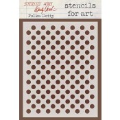 Wendy Vecchi Stencils for Art - Polka Dotty WVSFA007