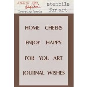 Wendy Vecchi Stencils for Art - Everyday Words WVSFA009