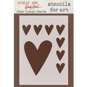 Wendy Vecchi Stencils for Art - Never Enough Hearts WVSFA013