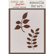 Wendy Vecchi Stencils for Art - Lovely Leaves WVSFA014