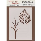 Wendy Vecchi Stencils for Art - Layered Tree WVSFA015