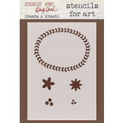 Wendy Vecchi Stencils for Art - Create A Wreath WVSFA017