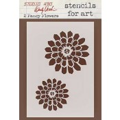 Wendy Vecchi Stencils for Art - 2 Fancy Flowers WVSFA020
