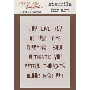 Wendy Vecchi Stencils for Art - Artful Words WVSFA021