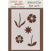 Wendy Vecchi Stencils for Art - Create A Flower WVSFA022