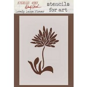 Wendy Vecchi Stencils for Art - Lovely Large Flower WVSFA024