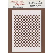 Wendy Vecchi Stencils for Art - Checkmate WVSFA026