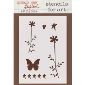 Wendy Vecchi Stencils for Art - Little Bits WVSFA028