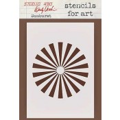 Wendy Vecchi Stencils for Art - Sunburst WVSFA029