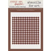 Wendy Vecchi Stencils for Art - Ornate Dots Overlay WVSFA031