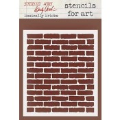 Wendy Vecchi Stencils for Art - Basically Bricks WVSFA032