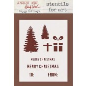 Wendy Vecchi Stencils for Art - Happy Holidays WVSFA033