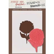 Wendy Vecchi STAMP-it Stencil-it: Zinnia WVSTST004