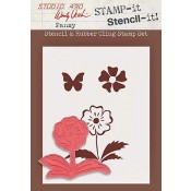 Wendy Vecchi STAMP-it Stencil-it: Pansy WVSTST008