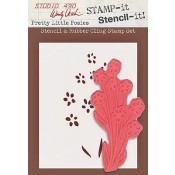 Wendy Vecchi STAMP-it Stencil-it: Pretty Little Posies WVSTST009