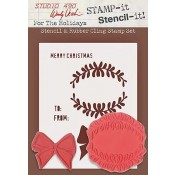Wendy Vecchi STAMP-it Stencil-it: For The Holidays WVSTST012