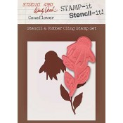 Wendy Vecchi STAMP-it Stencil-it: Coneflower WVSTST014
