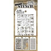 Tim Holtz Mini Layering Stencil Set #1 - MST001