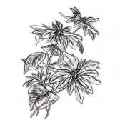 Sizzix 3-D Texture Fades Embossing Folder: Mini Poinsettia 665635