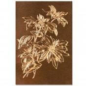 3D Texture Fades Embossing Folder: Poinsettia 664247