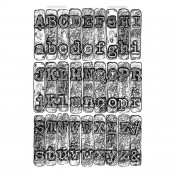 Sizzix 3-D Texture Fades Embossing Folder: Typewriter - 664760