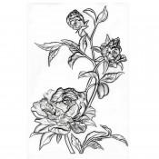 Sizzix 3-D Texture Fades Embossing Folder: Mini Roses 665632