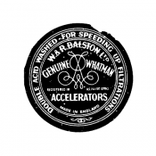 Tim Holtz Wood Mounted Stamp - Accelerators H1-3020