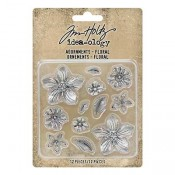 Tim Holtz Idea-ology Adornments: Floral TH93789