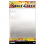 Tim Holtz Alcohol Ink Cardstock: Brushed Silver: TAC65494