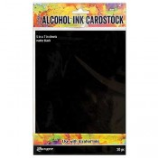 Tim Holtz Alcohol Ink Cardstock: Matte Black TAC65487