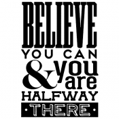 Tim Holtz Wood Mounted Stamp - Believe You Can P4-2968