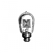 Tim Holtz Wood Mounted Stamp - Bulb D2-3004