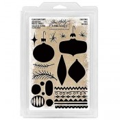 Tim Holtz Idea-ology: Christmas Shapes Foam Stamps - TH93649
